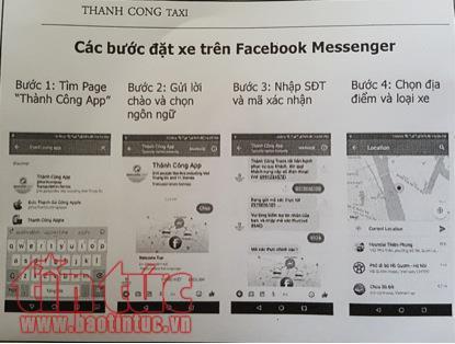 [Baotintuc.vn] Lần đầu tiên có thể đặt taxi truyền thống qua mạng xã hội Facebook