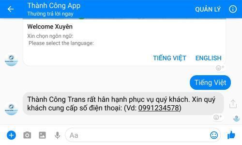 [bnews.vn] Lần đầu tiên tại Việt Nam ra mắt ứng dụng đặt xe qua Facebook Messenger