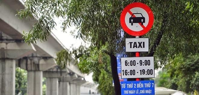 Các tuyến phố cấm xe taxi trên địa bàn thành phố Hà Nội mới nhất 2017