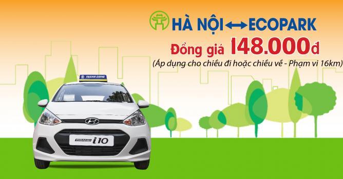 Chương trình đồng giá 148.000 dịch vụ xe taxi tuyến cố định Ecopark