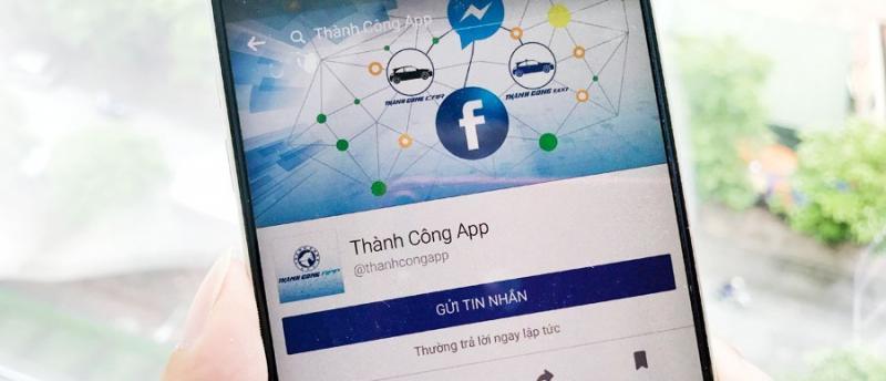 [ICTNEWS] Taxi Thành Công cho phép hành khách đặt xe qua chat Facebook