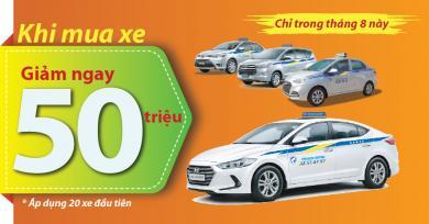 Kỷ niệm 10 năm thành lập, Thành Công Taxi giảm ngay 50 triệu đồng khi thương quyền xe taxi
