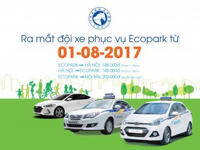 Thành Công Taxi ra mắt đội xe taxi Ecopark chuyên tuyến cố định với mức giá ưu đãi rẻ bất ngờ