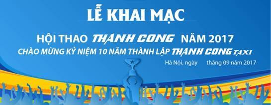 Thành Công Taxi thông báo chương trình Hội thao nhân dịp kỷ niệm 10 năm thành lập