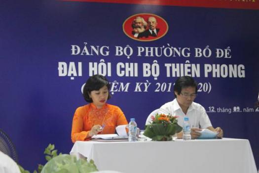 Tổ chức thành công Đại hội Chi bộ Công ty TNHH TM Thiên Phong - Thành Công Taxi - Nhiệm kỳ 2017-2020